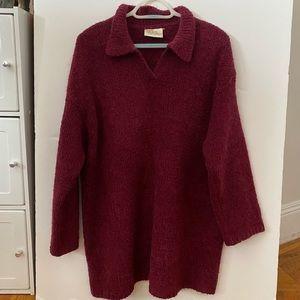 Dorothy Perkins Sweater Woolen Maroon. Size L